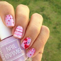 cute valentine nail design