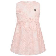 Guess Baby Girls Pink Embroidered Flower Dress