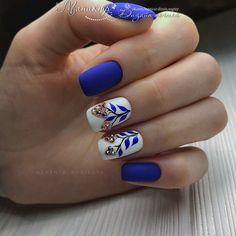 40 Trendy 2019 Dark Blue Nail Art Designs - Nails Art Design - Best Nail World Nail Art Designs, Nail Polish Designs, Blue And White Nails, White Nail Art, Red Nails, Hair And Nails, Pin On, Halloween Nail Art, Beautiful Nail Designs