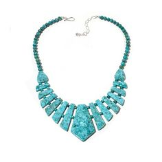 Jay King Iron Mountain Turquoise Collar Necklace
