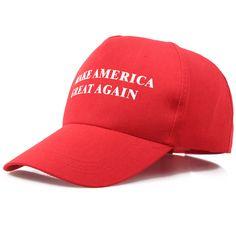 New 2017 unisex Make America Great Again Hat Donald Trump 2016 Republican Hat Cap Red Hot Adjustable Cap