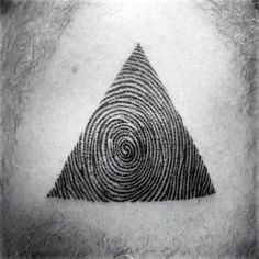 Awesome Triangle Fingerprint Male Chest Tattoos