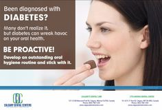 Ensure that diabetes doesn't wreck your teeth. See your dentist regularly to help keep teeth and gums healthy and for oral health tips #DentistCalgary #OralHealthTips
