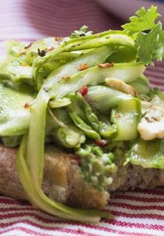AVOCADO, ASPARAGUS, CASHEW, PECORINO, CHILE, CITRUS & HERB TARTINE ...