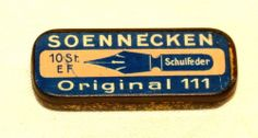 German Soennecken Pen Nib Nibs Tin 1920s, Version 1