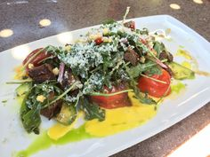 Angus Flank Steak Salad -Carthay Circle Restaurant -Disney California Adventure.