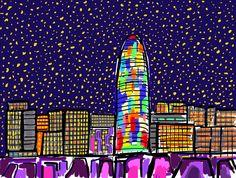 Ilustración Barcelona Torre Agbar!!!