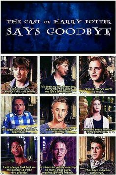 The cast of Harry Potter reflecting on their decade in the wizarding world.