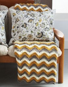 Satisfy your sweet tooth with the Touch of Honey Ripple Crochet Pattern. This crochet blanket pattern is a classic ripple that is both fun and easy to make! A warm, honey gold makes this free crochet pattern pop in any room.
