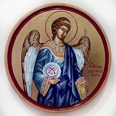 Saint Michael the Archangel, celebrated together with Saint Gabriel the Archangel and all the Bodiless Powers on the of November. Orthodox Iconography, painted in the traditional technique with natural pigments and egg yolk emulsion. Saint Gabriel, Saint Michael, Byzantine Icons, Orthodox Icons, Archangel, Sacred Art, Christianity, Saints, November
