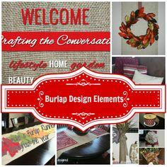 21 Burlap Inspiration featured on Denise Designed