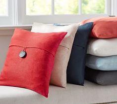 Textured Linen Pillow Cover #Pottery Barn