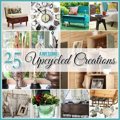 Cottage Market DIY:: 25 Awesome Home Decor Upcycled Projects !