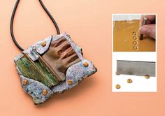 """make faux polymer clay """"screws"""" in Cynthia Blanton's Raku Radiance - from Easy Metal Jewelry Making: One Step at a Time, With Your Own Two Hands - Jewelry Making Daily"""