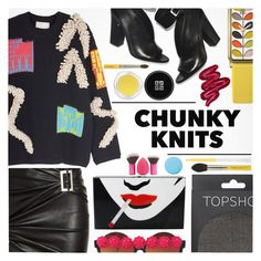 """""""Chunky knits at Mad Hatter's tea party"""" by yoa316 ❤ liked on Polyvore featuring Jitrois, Peter Pilotto, Gasoline Glamour, Topshop, Orla Kiely, Charlotte Olympia, Givenchy, Bdellium Tools, Obsessive Compulsive Cosmetics and Smith & Cult"""
