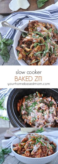 Slow Cooker Baked Ziti is guaranteed to become a family favorite and you'll love how easy it is to make in the slow cooker.