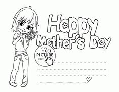 Mother's Day Certificates to Print Fresh 42 Coloring Pages Cards Magnificent Col. printable tags for mother's day day printables day printables for preschoolers day printables free day free printable cards Mothers Day Coloring Sheets, Coloring Pages For Girls, Free Coloring Pages, Printable Coloring Pages, Coloring For Kids, Colouring, Mothers Day Cards Printable, Free Mothers Day Cards, Free Printable Cards