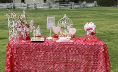 Sweet Love Valentine's Day Party with Really Cute Ideas via Kara's Party Ideas KarasPartyIdeas.com #loveparty #valentinesday #bridalshower #...