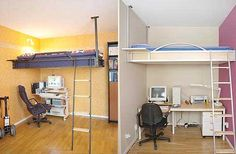 Lofted beds for grownups.