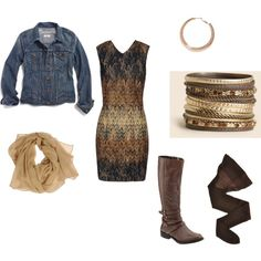 """""""Fall outfit with boots"""" by kjomeeks on Polyvore"""