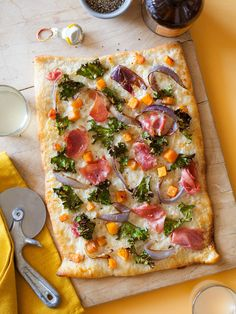 Proscuitto Kale and Butternut Squash Pizza