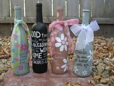 Decorate wine bottles for kitchen