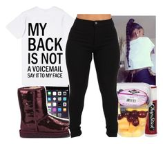 """Say It To My Face"" by aribearie ❤ liked on Polyvore featuring UGG Australia, Chapstick and MANGO"