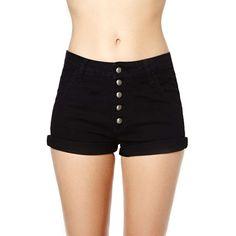 Courtshop Cody Shorts ($39) ❤ liked on Polyvore featuring shorts, bottoms, pants, short, short shorts, cut off shorts, high-waisted shorts, high waisted short shorts and highwaist shorts