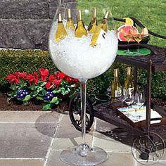 BEER BUCKET - Giant Red Wine Stem Cooler (It comes in a White wine stem too!)   POPSUGAR Social
