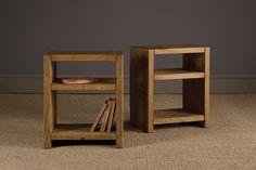 Plank Bookshelf Side Table by Indigo Furniture Crate Side Table, Rustic Side Table, Wooden Side Table, Farmhouse Side Table, Bookshelf Table, Wall Bookshelves, Indigo Furniture, Diy Furniture, Reclaimed Furniture