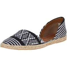 KAANAS Women's Tahiti D'orsay Flat ($37) ❤ liked on Polyvore featuring shoes, flats, pointy flats, flat espadrilles, pointy shoes, d'orsay flats and d'orsay shoes