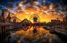 Paradise Pier Sunset.