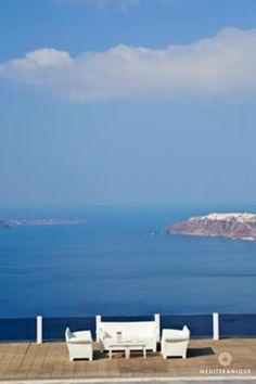 Caldera views from the Rocabella Santorini, Greece