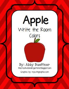 Apple Write the Room Colors- Free!