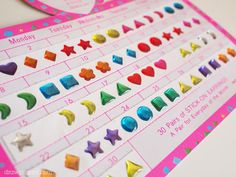 Stick on earrings! I would always put them on my face too..