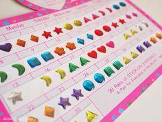Sticker earrings