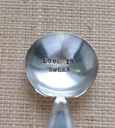 Vintage Love Is Sweet Stamped Ladle | Home Dining & Barware | Woodenhive | Scoutmob Shoppe | Product Detail