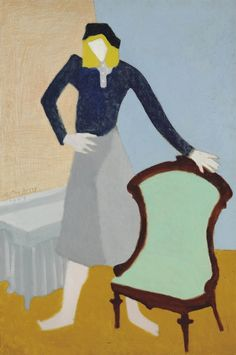 Milton Avery (American, 1885-1965), Adolescent, 1947. Oil on canvas, 36 x 24 in.