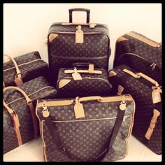 Louis Vuitton Luggage Set   Louis Vuitton   via Tumblr