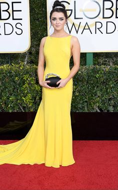 Maisie Williams from 2017 Golden Globes Red Carpet