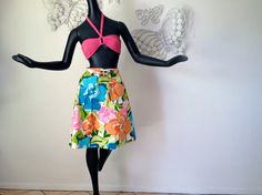 MOD Vintage 1960s Swimsuit Cover Up Skirt Hippie by elliemayhems, $35.00