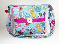 Flip Flops Handmade Fabric Purse / Custom Handbag / Case for Glasses / Cross Body by darlingsdesigns on Etsy
