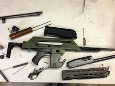 """Alien"" Pulse Rifle by Tommy Built Tactical using an SBR Tommy Gun and an SBS Remington 870."