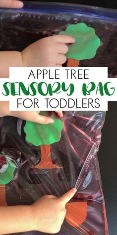 Create your own sensory bag for your toddlers with an Apple Tree Theme and watch them play, as they work on counting and fine motor skills. Apple Activities, Sensory Activities Toddlers, Sensory Bags, Preschool Learning Activities, Preschool At Home, Autumn Activities, Infant Activities, Sensory Play, Toddler Preschool