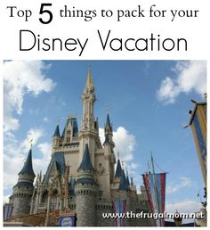 top 5 things to pack for your Disney vacation