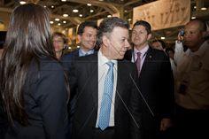 Presidente Juan Manuel Santos Calderón a su ingreso a la ceremonia de clausura de Worldskills Colombia 2012