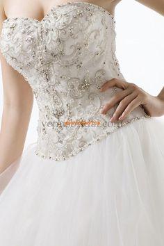 Retro inspirace Bez rukávů Výšivka Svatební šaty 2015