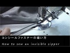 (8) How to sew an invisible zipper - Japanese sewing factory - YouTube