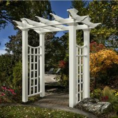 Garden Gate Arbors Designs garden arbor with gate butterfly gates and arbor make a beautiful entrance for this garden Fairfield Deluxe Arbor