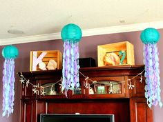 Mermaid themed birthday party with such CUTE IDEAS via Kara's Party Ideas! | Decor, cakes, cupcakes, games, printables, and MORE! #mermaidpa...